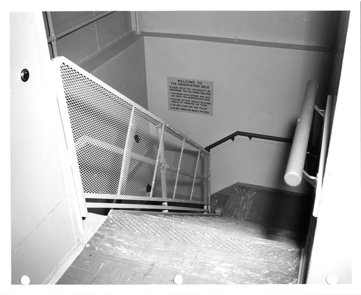 Photo of staircase to observation deck