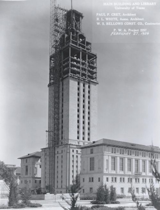 Photo of tower under construction